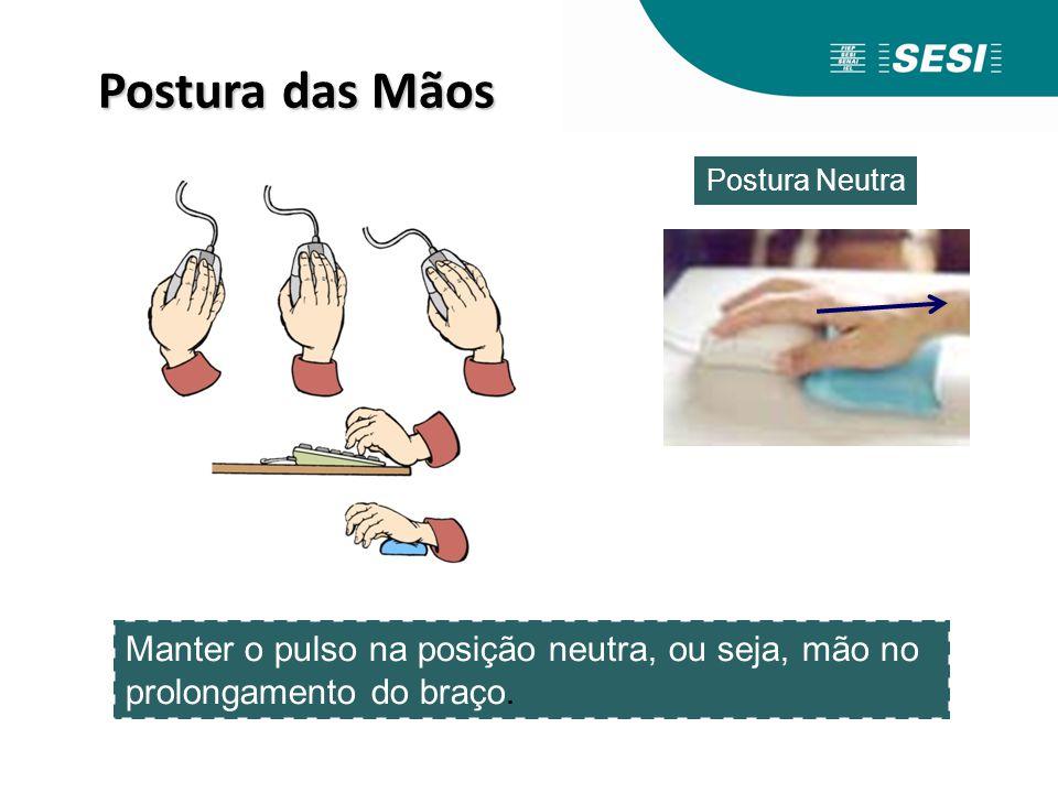 Postura das Mãos Postura Neutra.