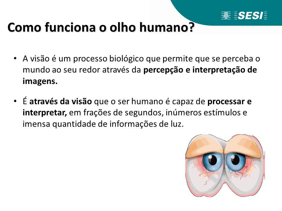 A Visão Humana Como funciona o olho humano