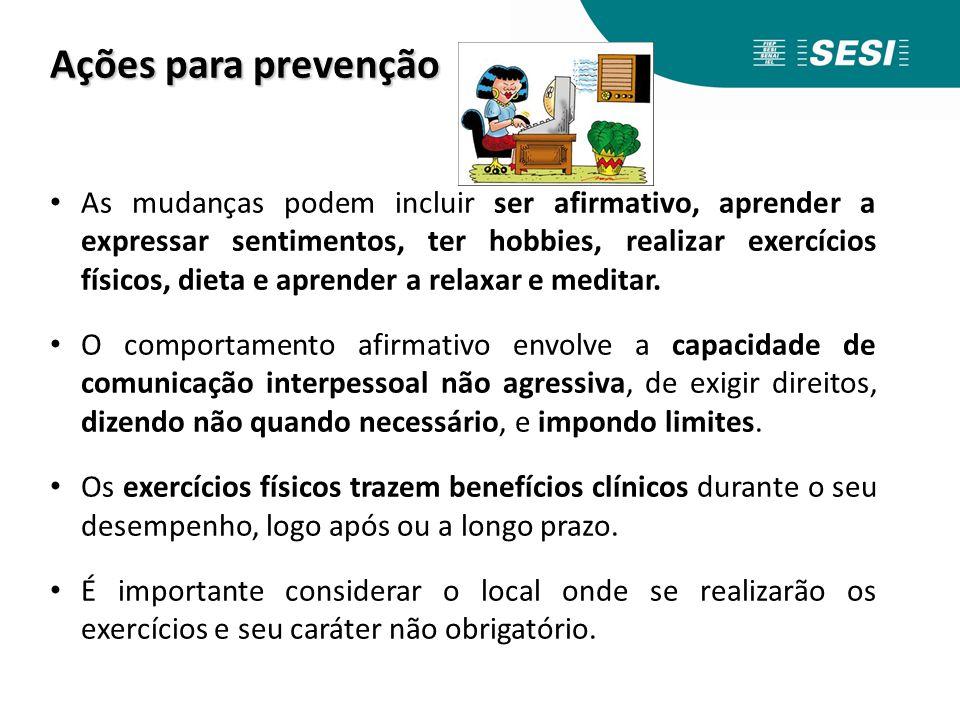 Ações para prevenção