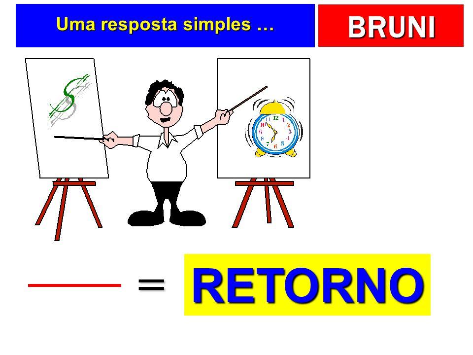 Uma resposta simples … = RETORNO