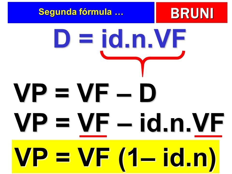 VP = VF – D VP = VF – id.n.VF VP = VF (1– id.n)