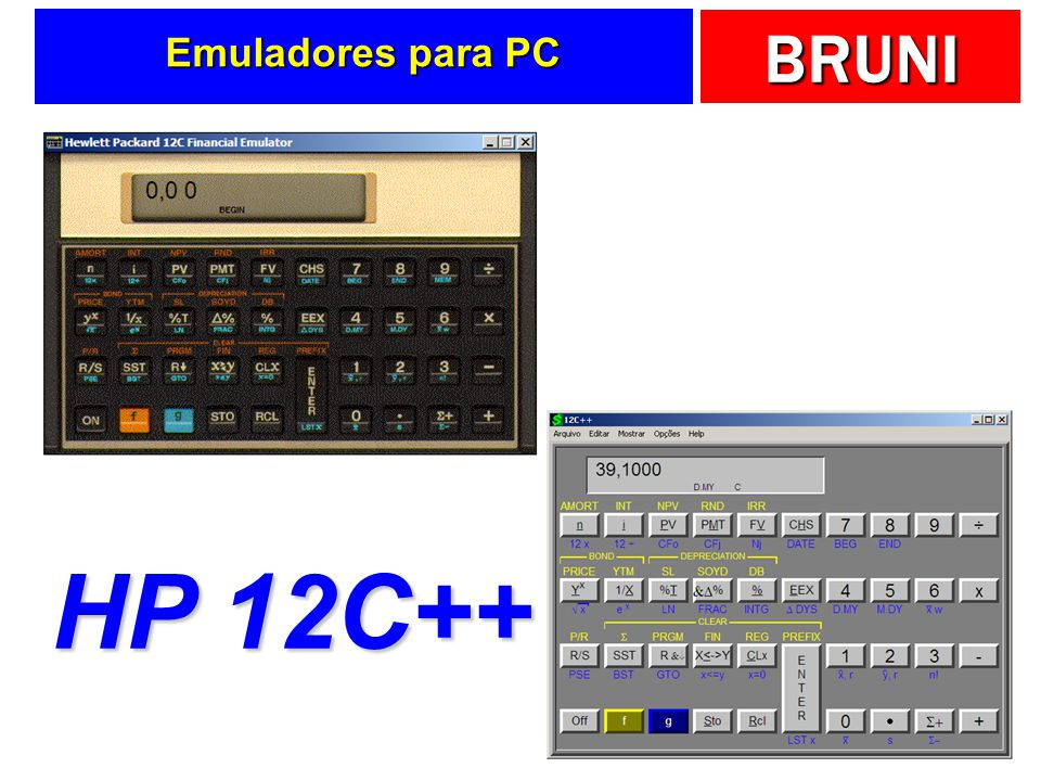 Emuladores para PC HP 12C++