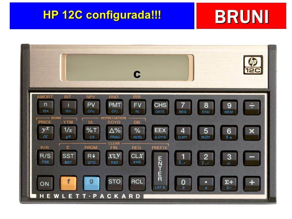 HP 12C configurada!!! C