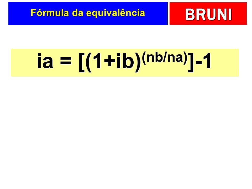 Fórmula da equivalência