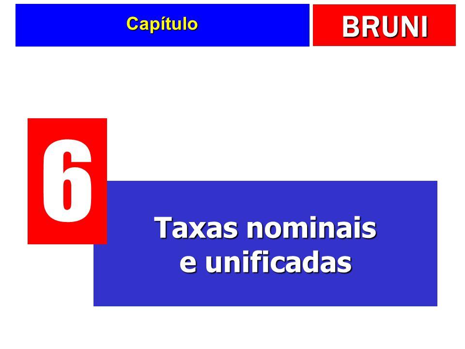 Taxas nominais e unificadas