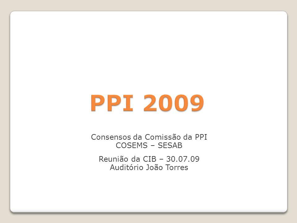 Consensos da Comissão da PPI