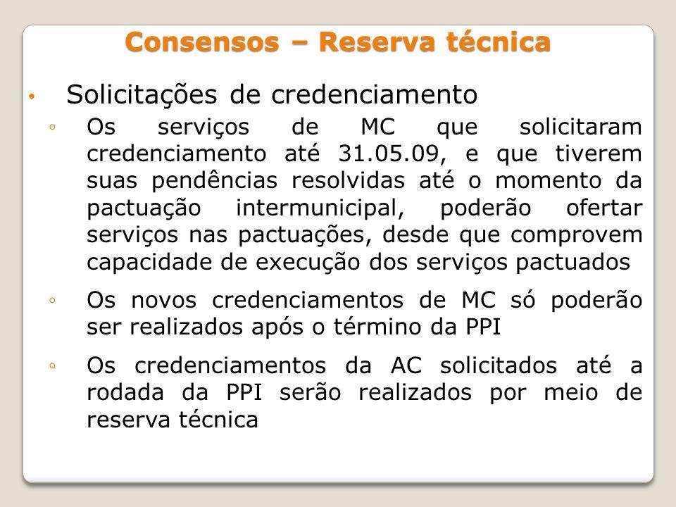Consensos – Reserva técnica