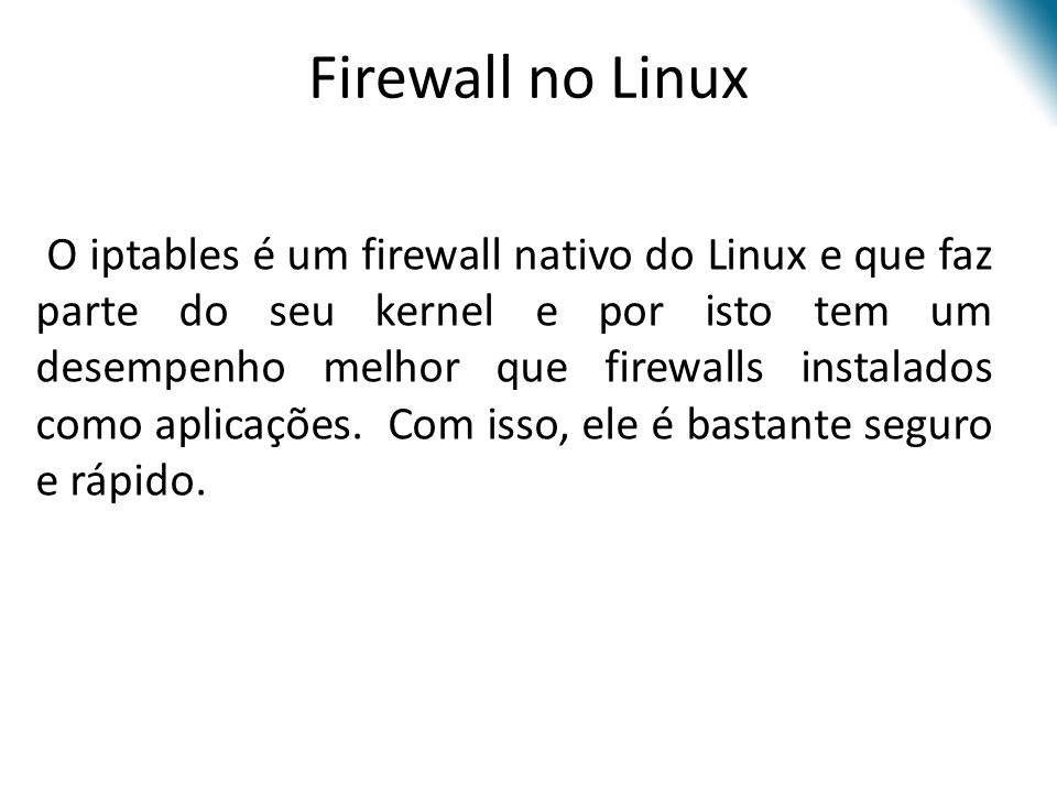 Firewall no Linux