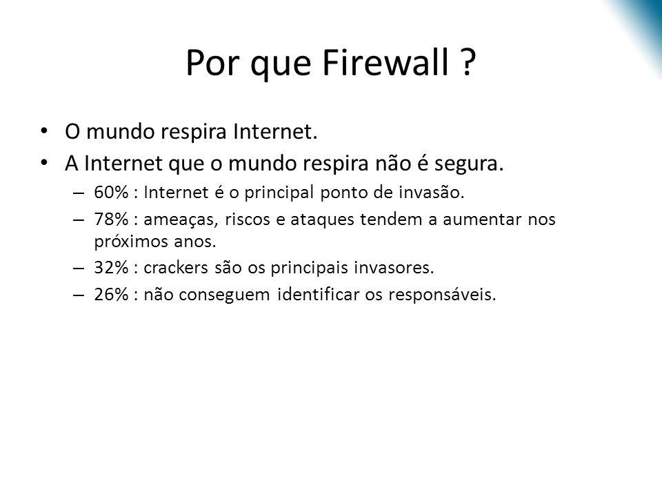 Por que Firewall O mundo respira Internet.