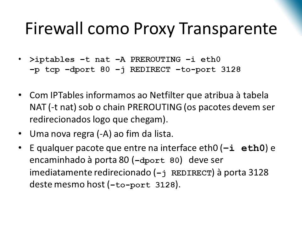 Firewall como Proxy Transparente