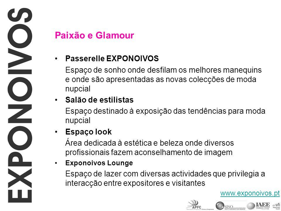 Paixão e Glamour Passerelle EXPONOIVOS Salão de estilistas Espaço look