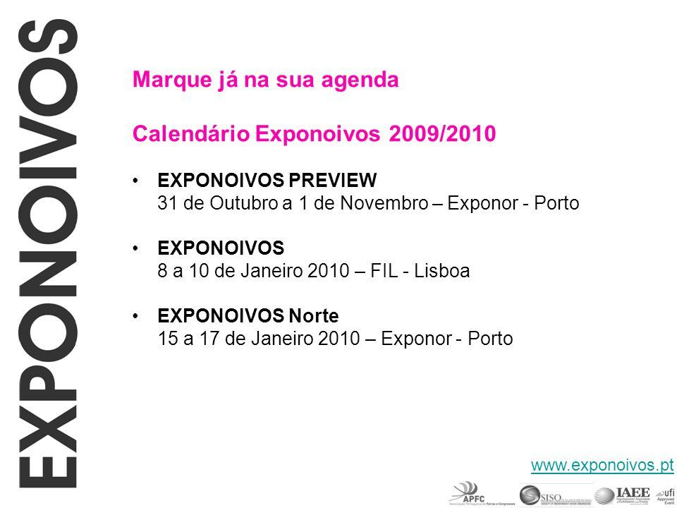 Calendário Exponoivos 2009/2010
