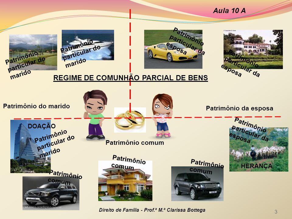REGIME DE COMUNHÃO PARCIAL DE BENS