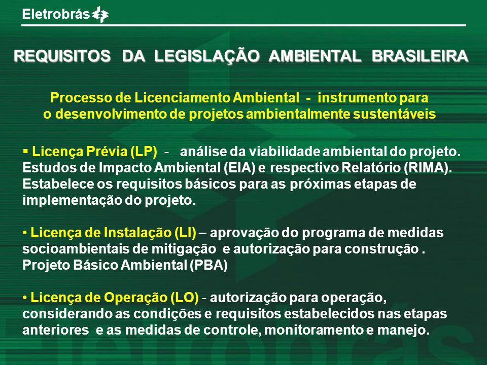 REQUISITOS DA LEGISLAÇÃO AMBIENTAL BRASILEIRA