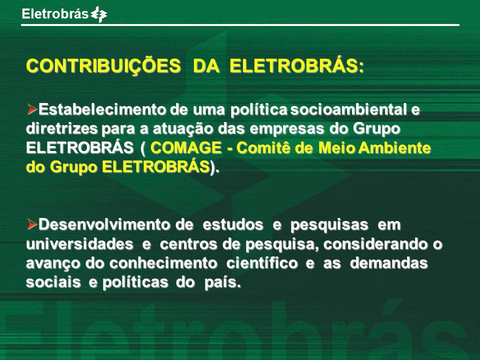 CONTRIBUIÇÕES DA ELETROBRÁS: