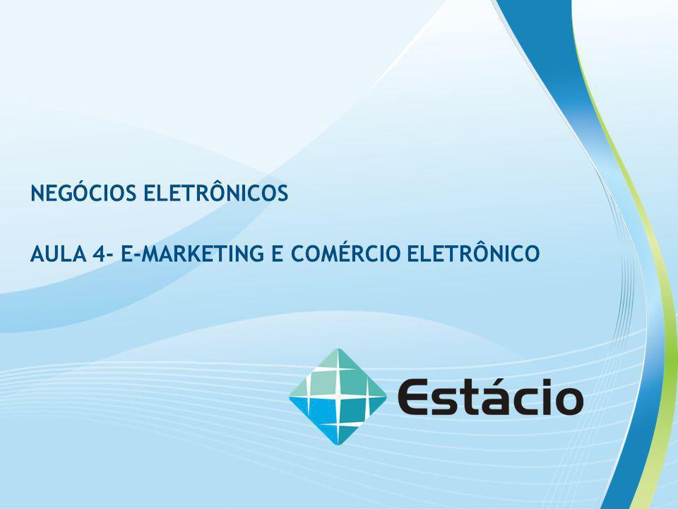 NEGÓCIOS ELETRÔNICOS AULA 4- E-MARKETING E COMÉRCIO ELETRÔNICO