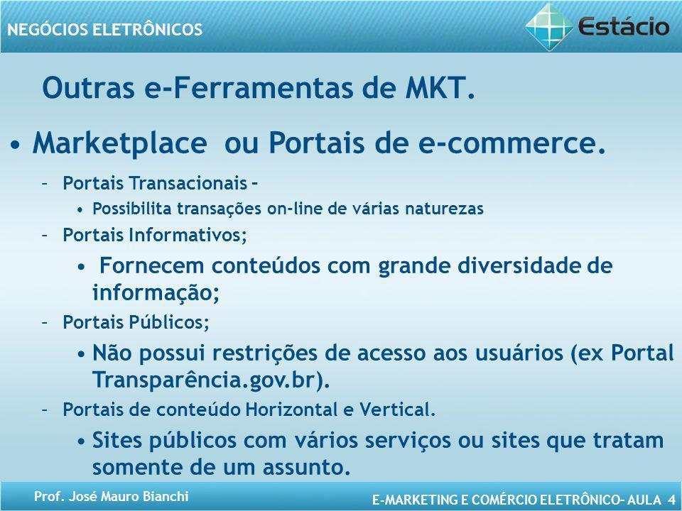 Outras e-Ferramentas de MKT. Marketplace ou Portais de e-commerce.
