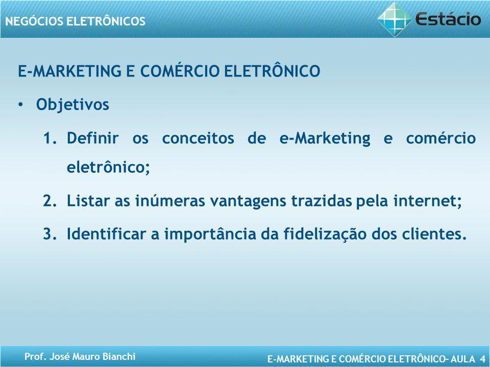 E-MARKETING E COMÉRCIO ELETRÔNICO