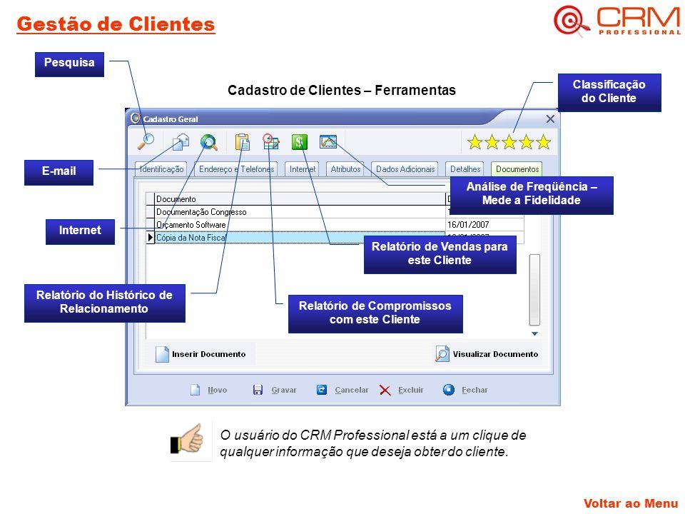 Gestão de Clientes Cadastro de Clientes – Ferramentas