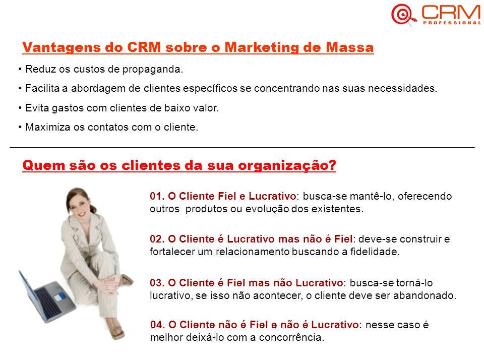 Vantagens do CRM sobre o Marketing de Massa
