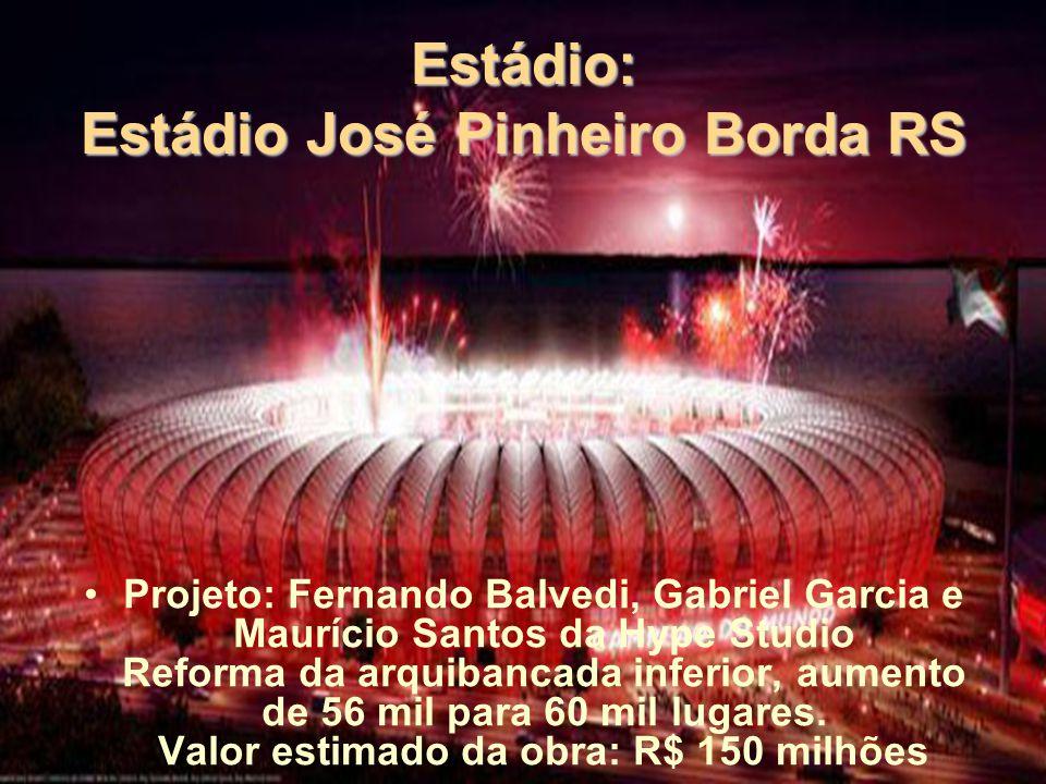 Estádio: Estádio José Pinheiro Borda RS