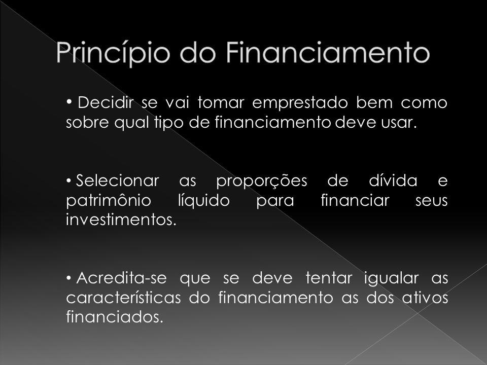 Princípio do Financiamento