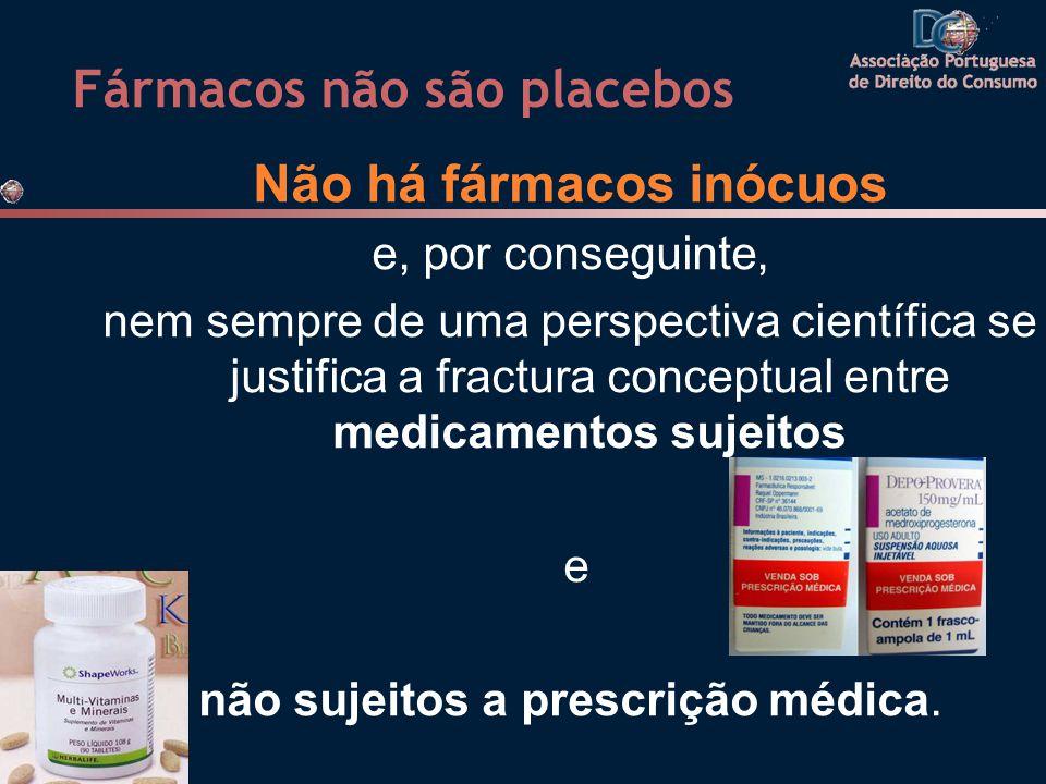 Fármacos não são placebos