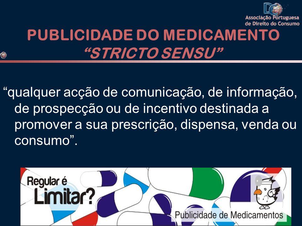 PUBLICIDADE DO MEDICAMENTO STRICTO SENSU