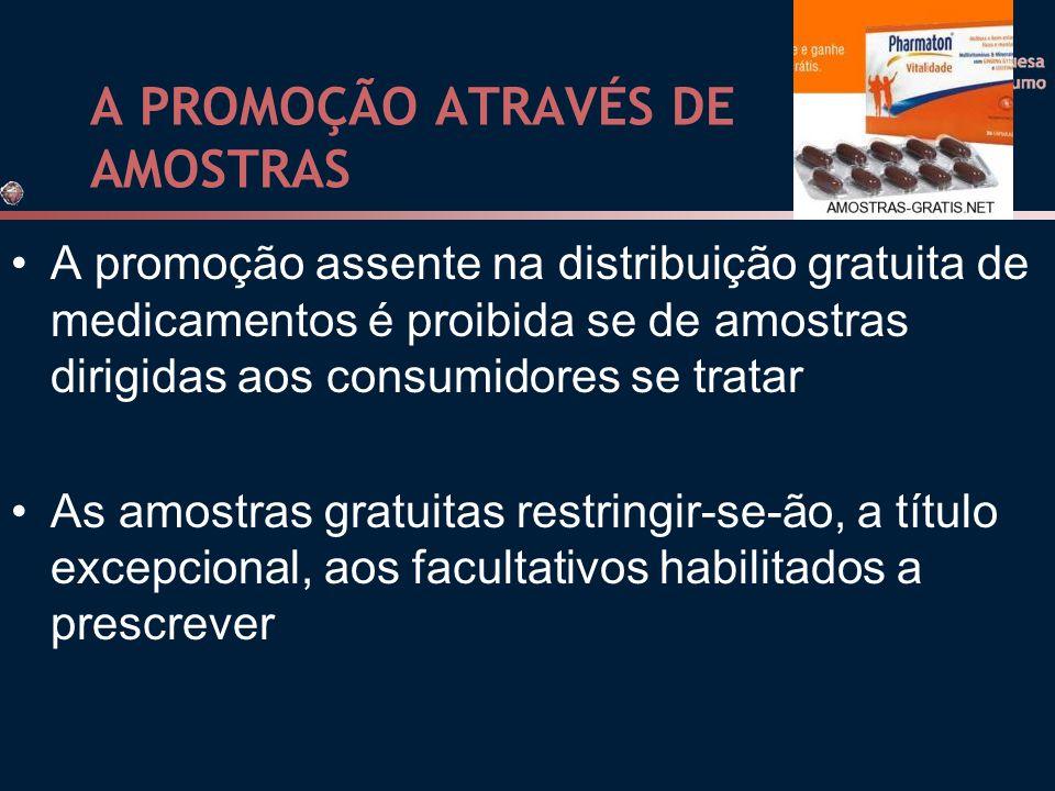 A PROMOÇÃO ATRAVÉS DE AMOSTRAS