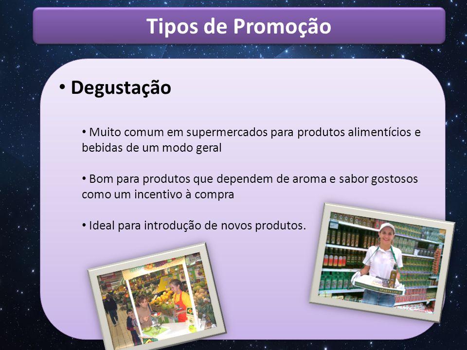 Tipos de Promoção Degustação