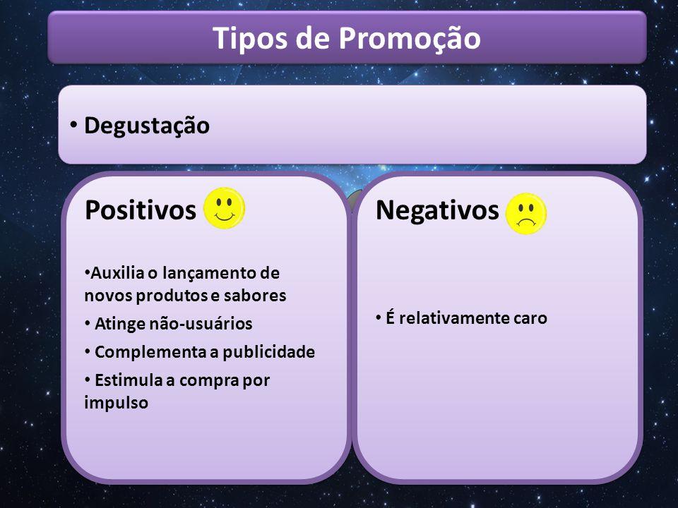 Tipos de Promoção Positivos Negativos Degustação