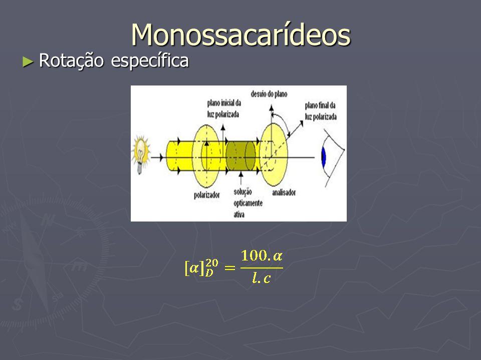 Monossacarídeos Rotação específica