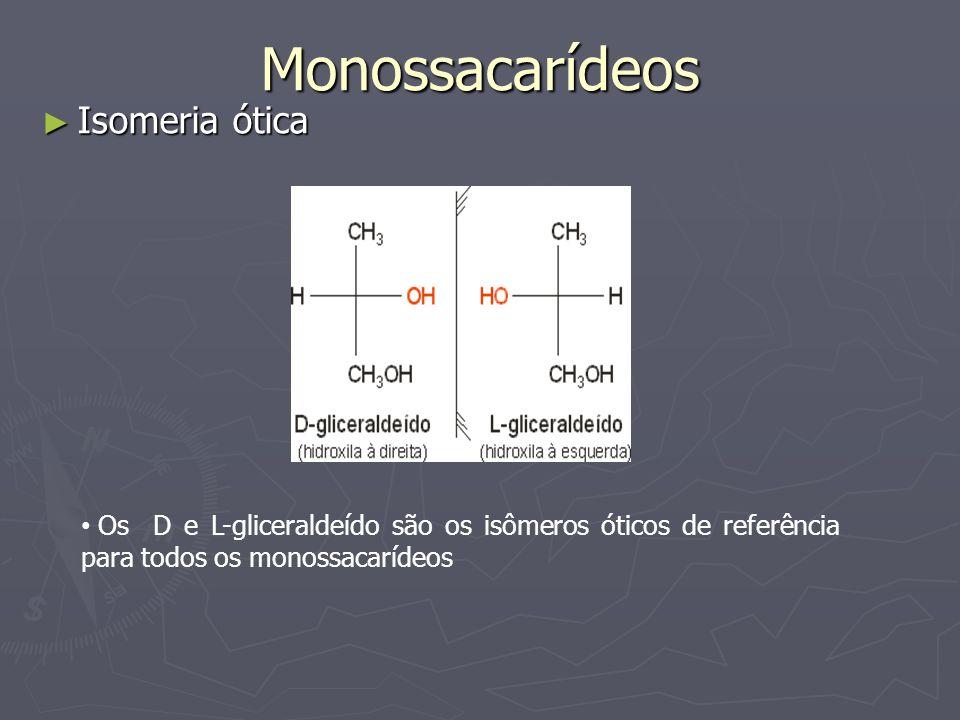 Monossacarídeos Isomeria ótica