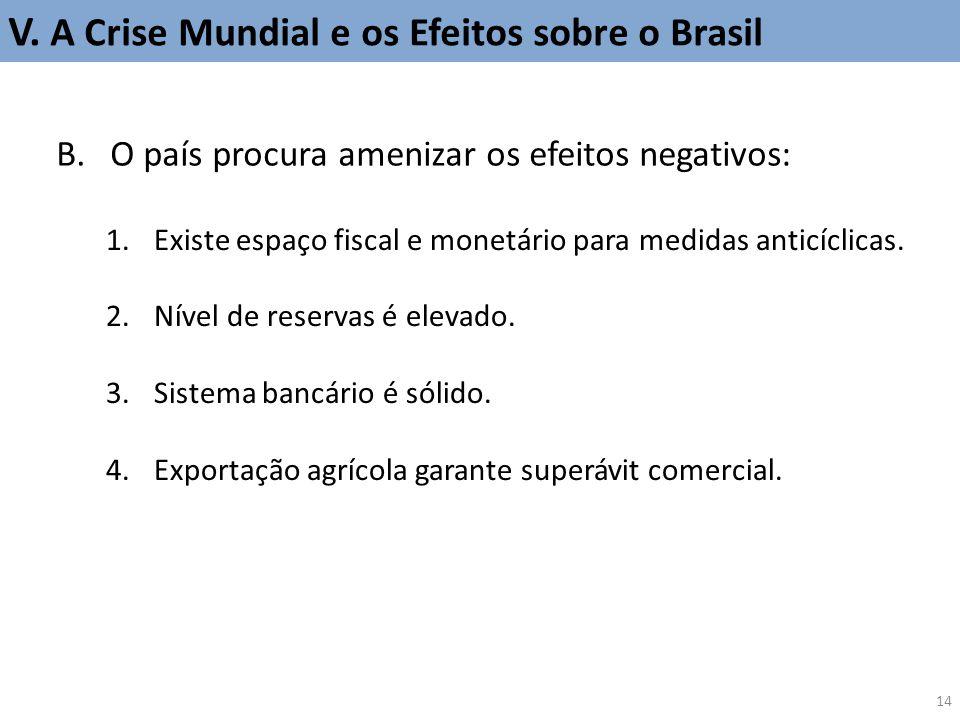 V. A Crise Mundial e os Efeitos sobre o Brasil