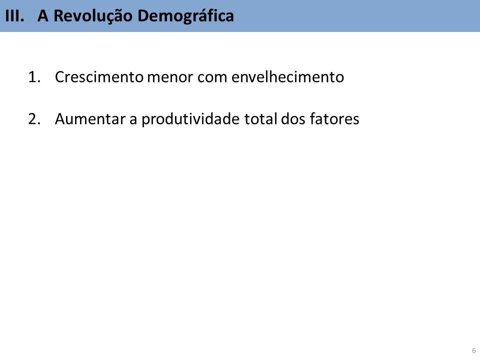 III. A Revolução Demográfica