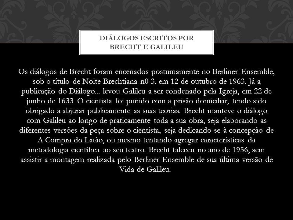 DIÁLOGOS ESCRITOS POR BRECHT E GALILEU