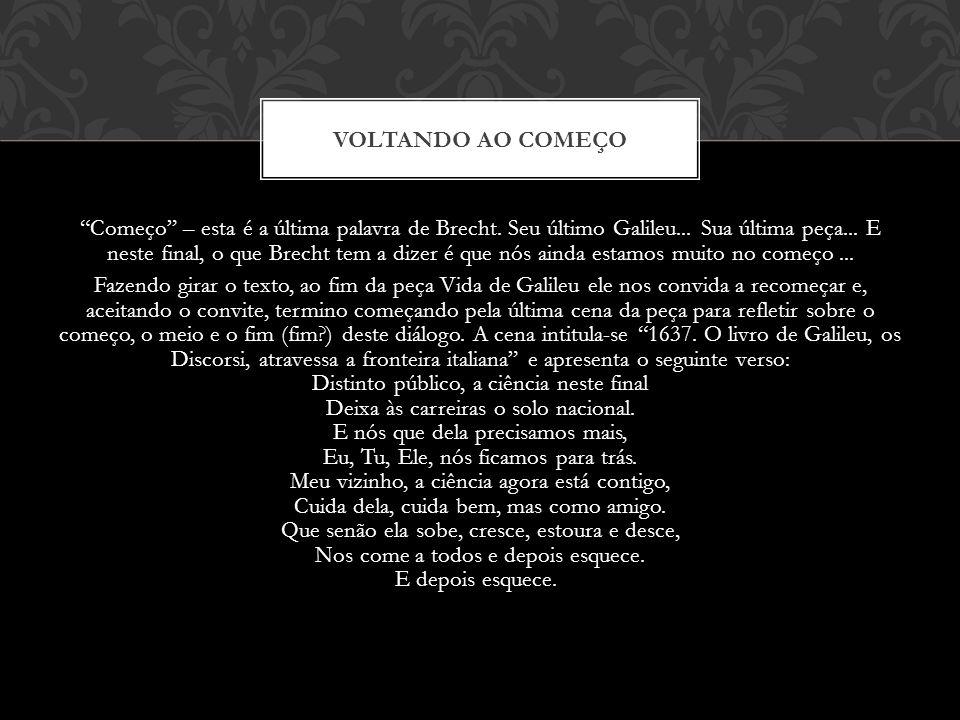 VOLTANDO AO COMEÇO