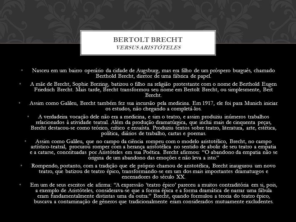 Bertolt Brecht Versus aristóteles
