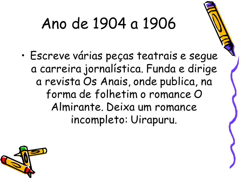 Ano de 1904 a 1906