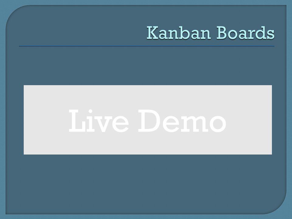 Kanban Boards Live Demo