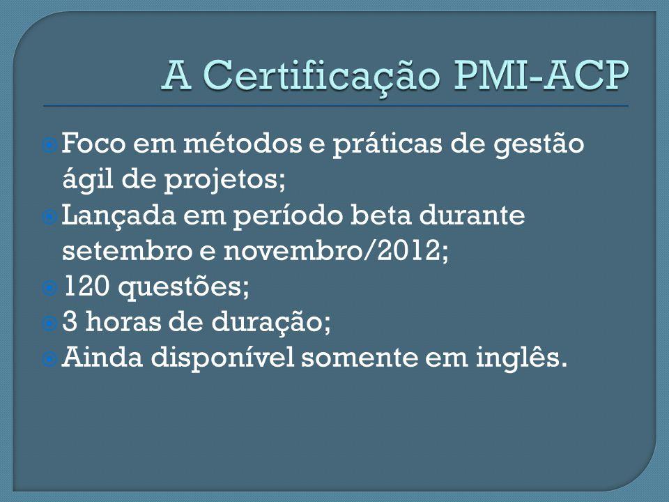A Certificação PMI-ACP