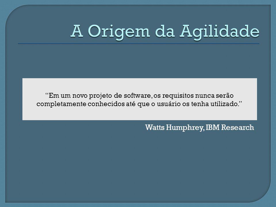 A Origem da Agilidade Watts Humphrey, IBM Research