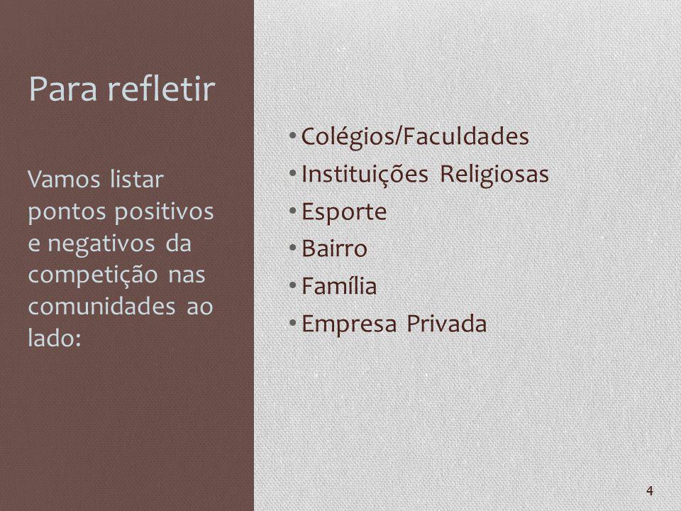 Para refletir Colégios/Faculdades Instituições Religiosas Esporte