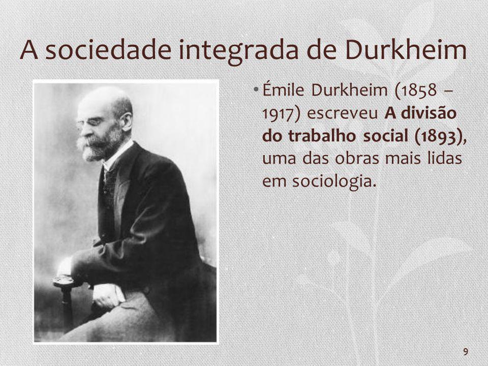 A sociedade integrada de Durkheim