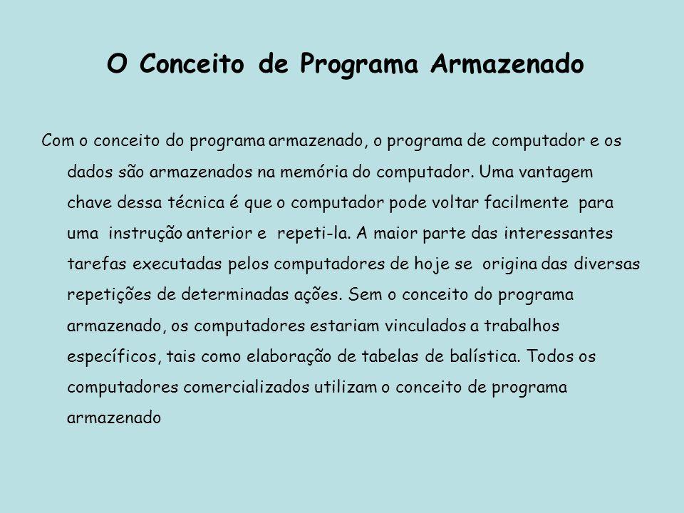 O Conceito de Programa Armazenado