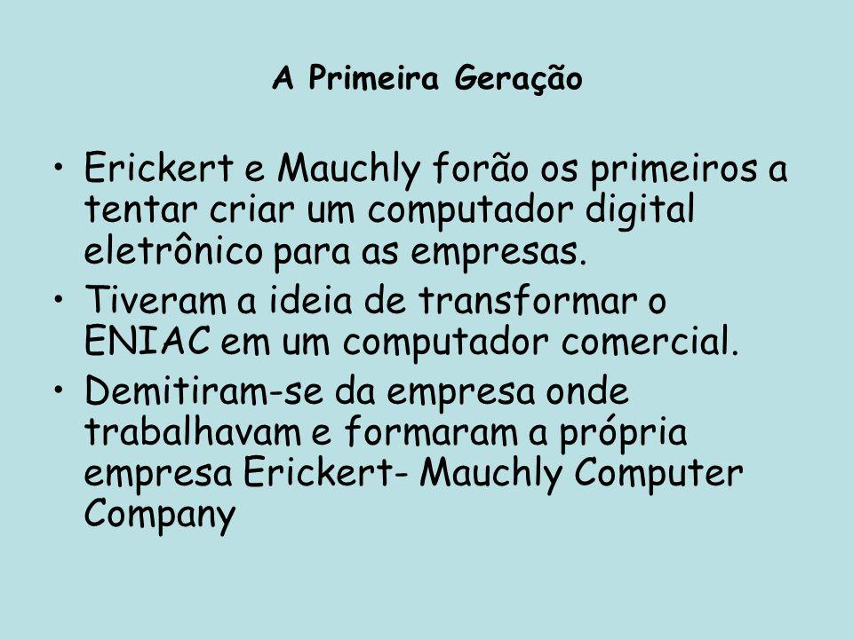 Tiveram a ideia de transformar o ENIAC em um computador comercial.