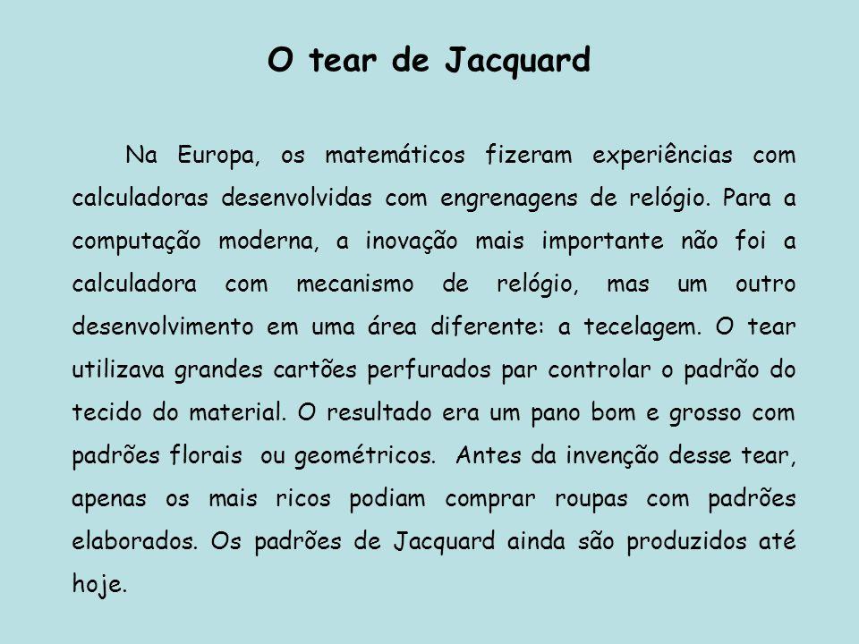 O tear de Jacquard