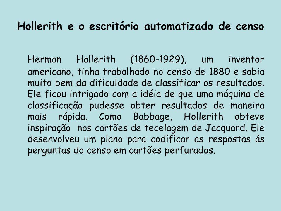 Hollerith e o escritório automatizado de censo