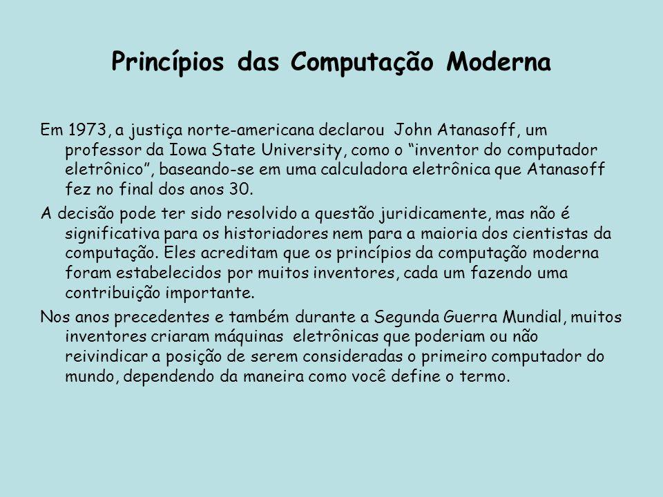 Princípios das Computação Moderna