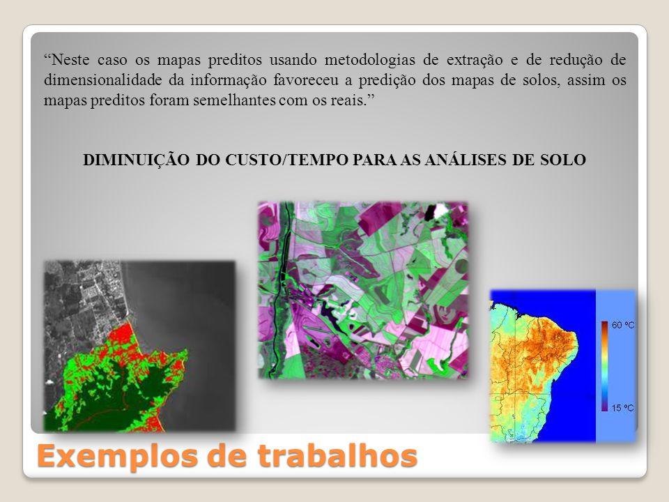 DIMINUIÇÃO DO CUSTO/TEMPO PARA AS ANÁLISES DE SOLO